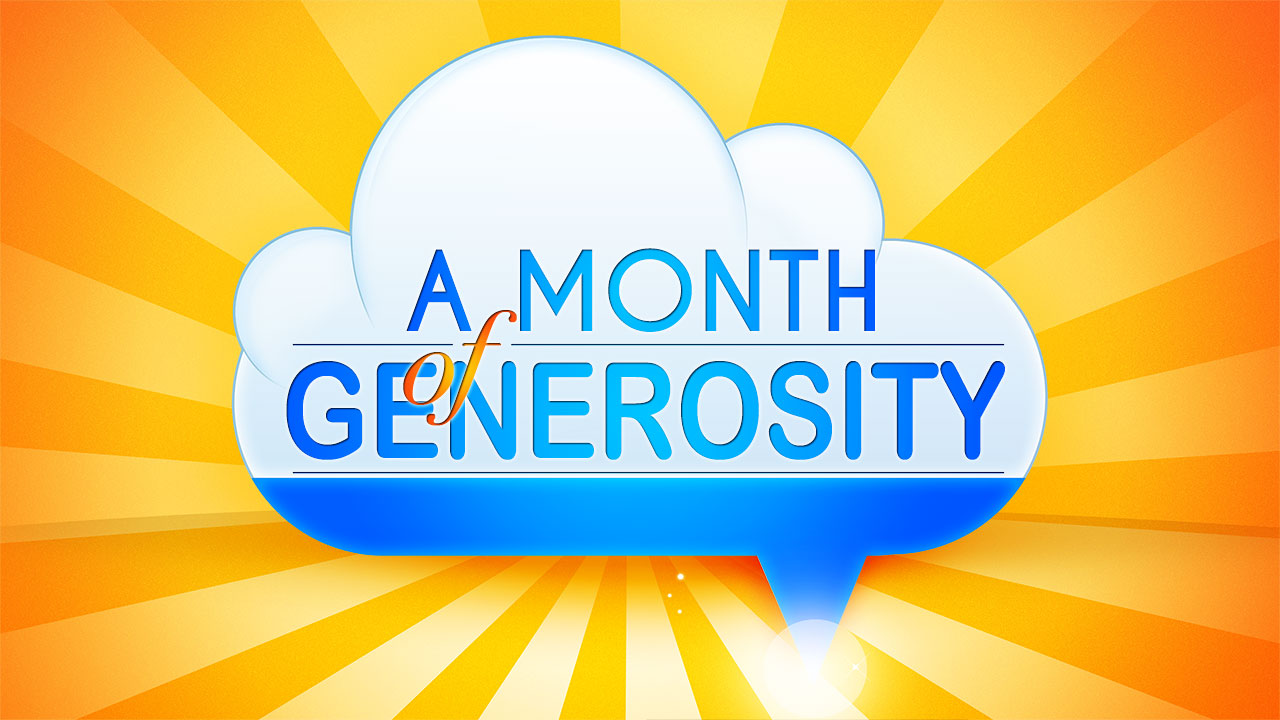 A Month of Generosity